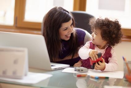 Arbeit - Mutter mit Kind