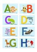 Buchstaben Karten A-H