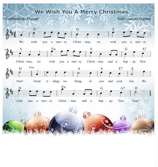 Texte Weihnachtslieder Zum Ausdrucken.We Wish You A Merry Christmas Mamiweb De