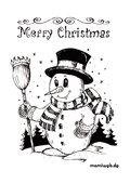 Ausmalbilder Weihnachten Schneemann