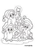 Ausmalbilder Weihnachten Pinguin