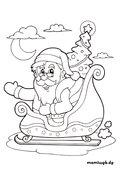Ausmalbilder Weihnachten Weihnachtsmann