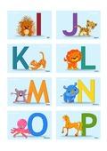 Buchstaben Karten I-P