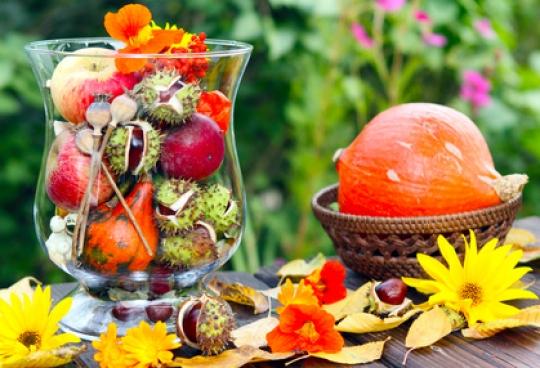 Herbstliche dekorationen selbst gemacht - Herbst dekoration tisch ...