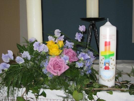 Altar Bei Der Taufe