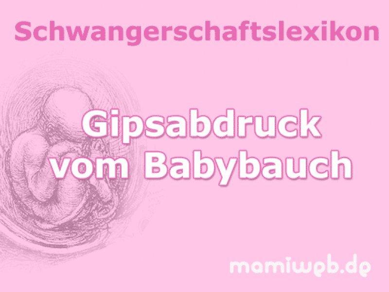 gipsabdruck-vom-babybauch