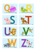 Buchstaben Karten Q-Z