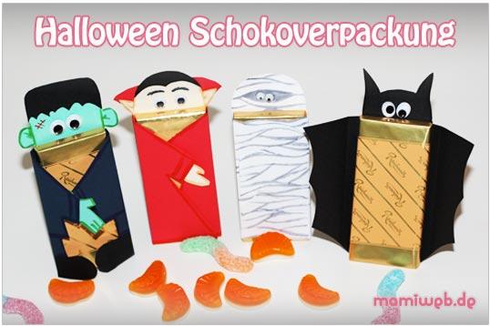 Außergewöhnlich Halloween Schokoverpackung Mamiweb.de, Einladung